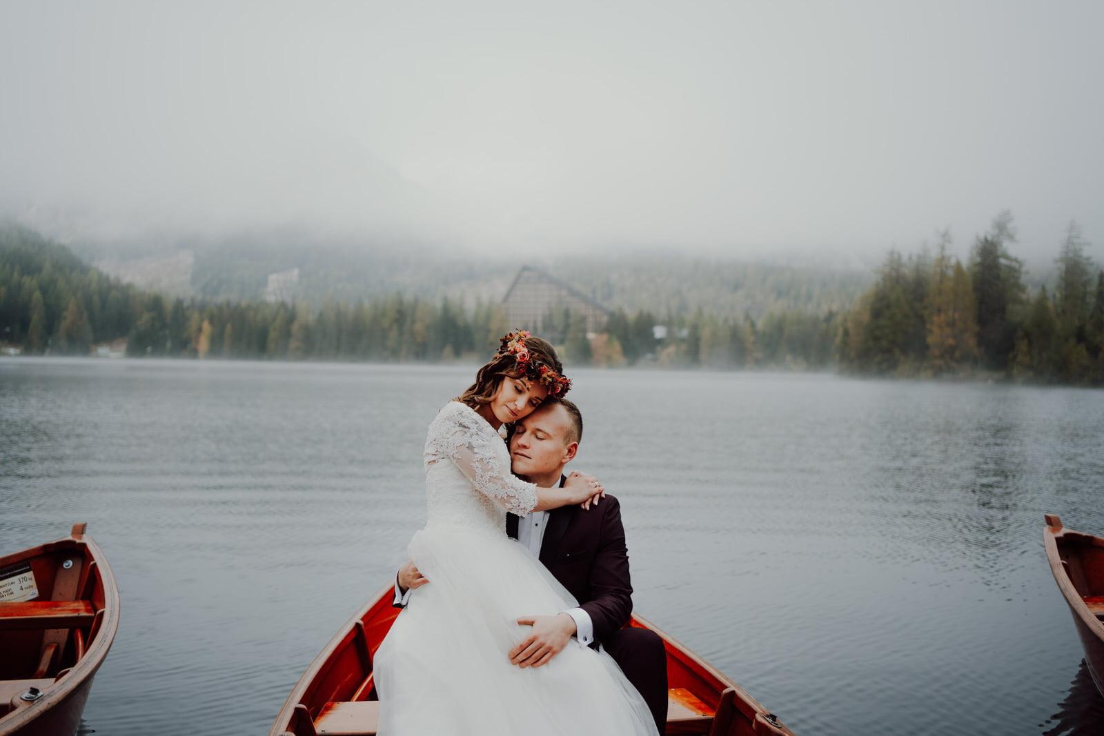 sesja śłubna szczyrbskie jezioro